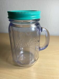 Aladdin Insulated Mason Jar  Tumbler 32oz  Smoothie Jar Teal Green Cap