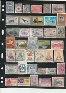 Honduras & Costa Rican used stamp mixture