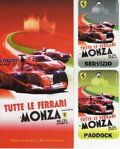 TUTTE LE FERRARI A MONZA 2001 PROGRAMMA E PASS - 497