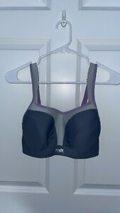 Panache Sport Women's Non-Wired Sports Bra, Blue Purple, Size 32F