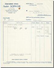 Facture - André SCHWOB Etablisements Textiles  Vichy 1954