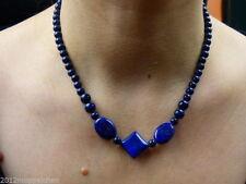 Ovale Echtschmuck-Halsketten & -Anhänger mit Lapis Lazuli für Damen