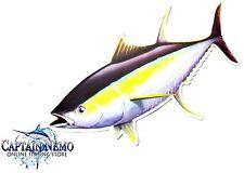 VINYL FISHING MAGNET YELLOWFIN TUNA FISH MAGNET BOAT KAYAK YELLOW FIN M4773