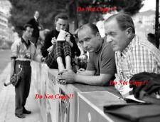 Juan-Manuel Fangio Ferrari F1 retrato Monaco Grand Prix 1956 fotografía 1