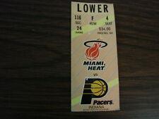 Miami Heat vs Indiana Pacers Ticket Stub