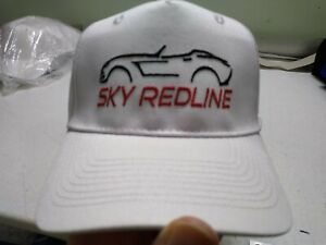 Saturn Sky Redline Kappa White Hat Embroidered BLK/Red New- Port & Co. 5 pl.