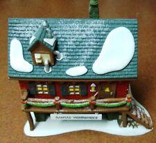 ca 1995 - Dept 56 - Heritage - North Pole - Santa's Woodworks - Box - Light - Ex