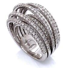 2.56 TCW Round Diamonds Wedding Anniversary Ring Band 14k White Gold Size 7.5