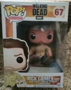 FUNKO POP! Television THE WALKING DEAD #67 RICK GRIMES PRISON YARD Vaulted 2013