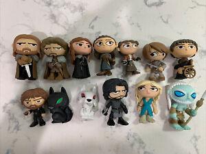 Funko Game Of Thrones Mystery Minis Starks Direwolves Whitewalker Lot Of 13 Mix