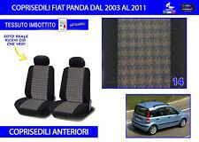 Fodere sedili Fiat Panda 2007 coprisedili set 2 foderine misura sedile per auto