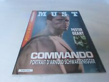 ARNOLD SCHWARZENEGGER - Poster géant MUST N°1 - Commando !!! SPECIAL ISSUE !!!