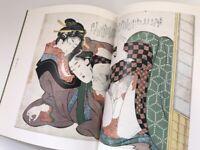 Japanese Hanga Book Vtg Syunga Hokusai Nude Woman Ukiyoe Print Kimono h045