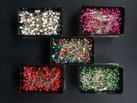 Pearl Head Dressmakers Pins -Box of 144- Size ø0.58 x4 0mm - Design-Surgery®