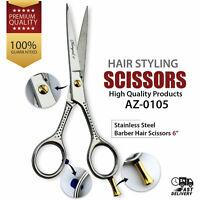 """6"""" Stainless Steel Hairdressing Scissors Barber Salon Hair Cutting Shears Sharp"""