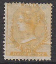 More details for malta - 1863/81, 1/2d buff - wmk crown cc - perf 14 - m/m - sg 4 or 11