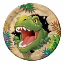 "8 x DINO BLAST 9"" PAPER PLATES DINOSAURS BOYS BIRTHDAY PARTY CHILDRENS TABLEWARE"