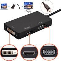 3 in 1 Mini Display Port DP Thunderbolt to DVI+VGA+HDMI Adapter for MacBook Pro