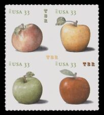 4727-30 4730 4730a Apples 33c Die Cut Block of 4 From Sheet 2013 MNH - Buy Now