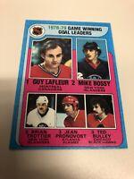 1978-79 Topps Game Winning Goal Leaders Guy Lafleur, Mike Bossy #7 Hockey Card