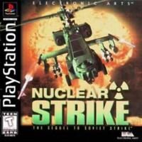 Nuclear Strike Sequel to Soviet Strike Playstation Game PS1 Used