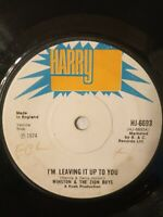 "Winston & The Zion Boys - I'm Leaving It Up To You - 7"" Vinyl Single 1974"