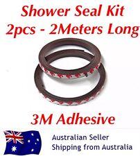 2MTR Shower Screen Magnetic Tape Seal Kit Self Adhesive Strips Door Magnet Bath