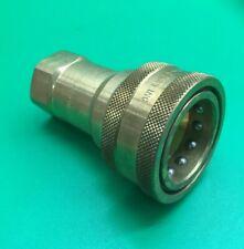 DIXON/DQC H-Series ISO-B Poppet Valve Female Threaded Brass Quick Coupler (8FH8-