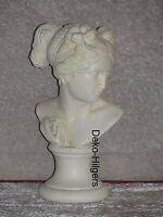 Büste Elisa Kopf Figur Frau Stuckgips Skulptur Dekoration Säule Statue Crem 2005