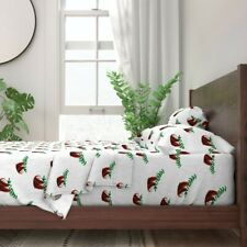 Kawaii Sloth Tropical Nursery Baby 100% Cotton Sateen Sheet Set by Roostery