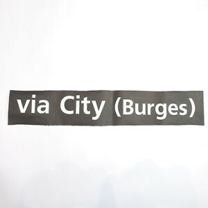 Via City Burges Bus blind destination vintage printed West Midlands 1994