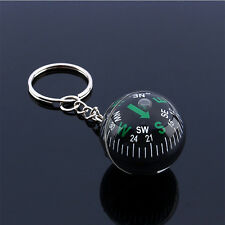 28mm Ball key ring Liquid Filled Compass Camping Hiking Travel Outdoor Survival