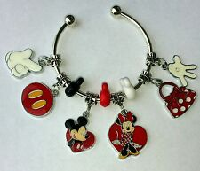 **ON SALE**Set of 10Authentic Disney Mickey  Mouse  charm With Bracelet