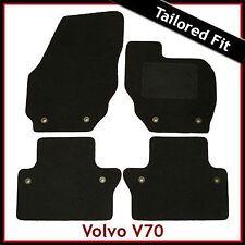 Volvo V70 Mk3 Manual 2007 onwards Tailored Fitted Carpet Car Mats BLACK