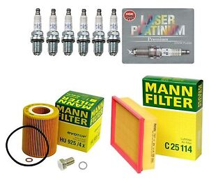 For BMW E39 E46 E83 E85 High Quality Tune Up KIT Filters w/ 6-Spark Plugs