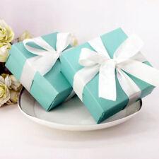 25pcs Cute Tiffany Blue Wedding Favor Box Boxes & Ribbon Birthday Party Banquet
