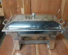 "Full Size Buffet Catering Chafer Dish Set, Lid, 4"" Full Pan, Stand"