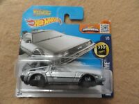 Back to the Future Time Machine Hover Mode Short Card New Hot Wheels