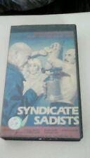 Syndicate Sadists RARE Super Video release (1984) VHS Joseph Cotten sleaze rape