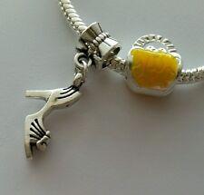 Purse Handbag Bead High Heel Shoe Dangle Charm aFor European Bracelet / Necklace