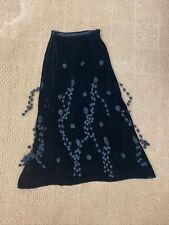 New listing Vintage Moschino Black Velvet Skirt With Pom Poms