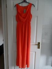 BNWT Ladies Coral Sleeveless Maxi Dress with Cowl Neck by TU at Sainsburys