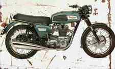 Triumph T150 1969 Aged Vintage SIGN A4 Retro