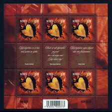NORWAY . 2004 Sunflower Heart Sheet (1394) . Mint Never Hinged