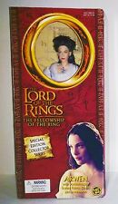 "2002 LOTR Lord Of the Rings ARWEN 12"" Doll White Dress by Toy Biz VERY RARE"
