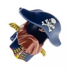 1x LEGO Duplo Pirates Figurine Helmet Blue Beard Braun Hat Skull 7880 54062pb02