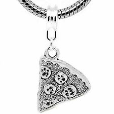 Pizza Charm Dangle Bead Spacer For Snake Chain Charm Bracelet