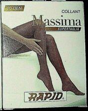 12 collant RAPID MASSIMA classico filanca SUPERTAGLIA opaco 20 den NERO
