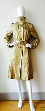 New Burberry Prorsum Gold Fabric Woman's Classic Trench Coat UK 16