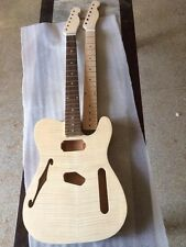 Unfinished electric guitar  Excellent handcraft one neck and one body 11221